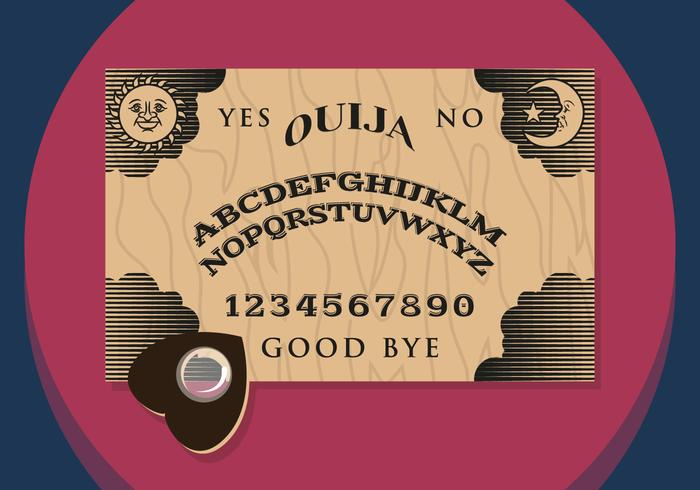 Ouija Illustration Vectorial