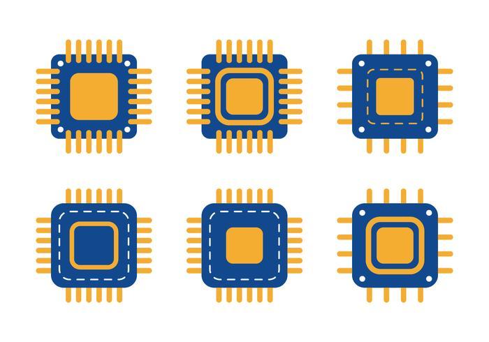 Mikrochip-Symbol vektor