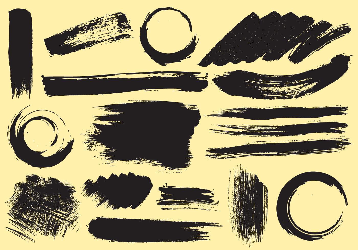 paint stroke vectors download free vector art stock