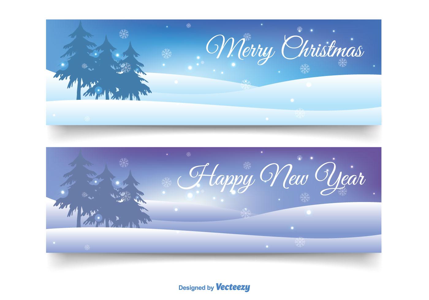 Weihnachten Banner Set - Kostenlose Vektor-Kunst, Archiv-Grafiken ...