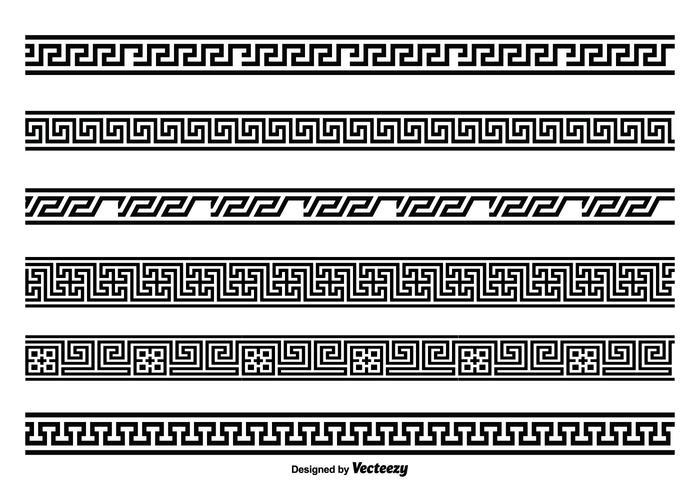 Griechischer Key Style Border Set