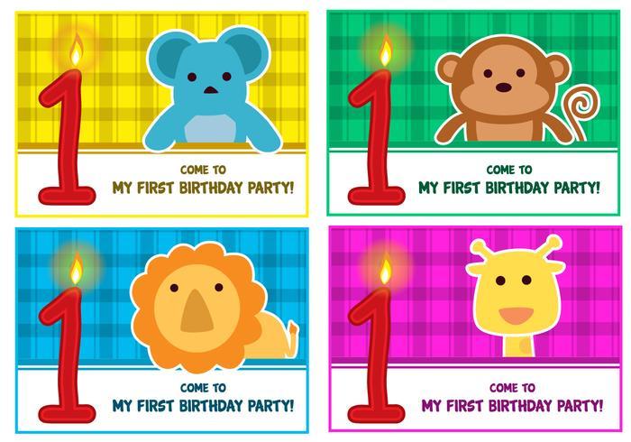 1st birthday Vectors
