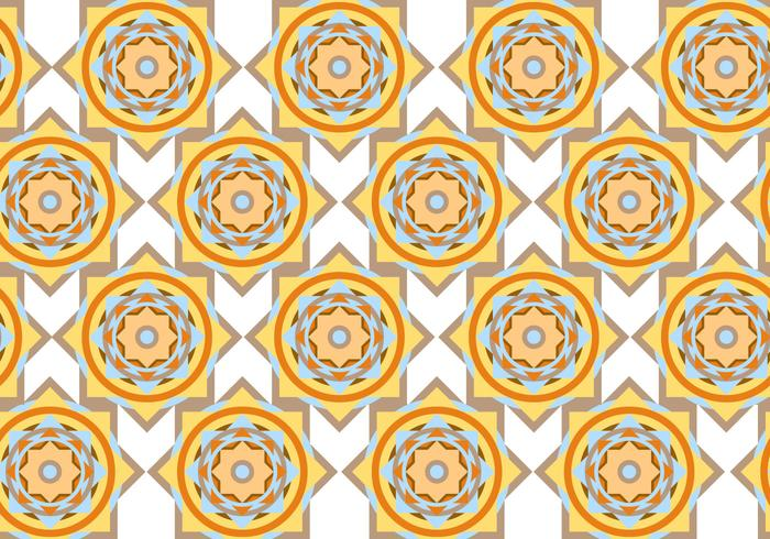 Abstract Circle Geometric Pattern Vector
