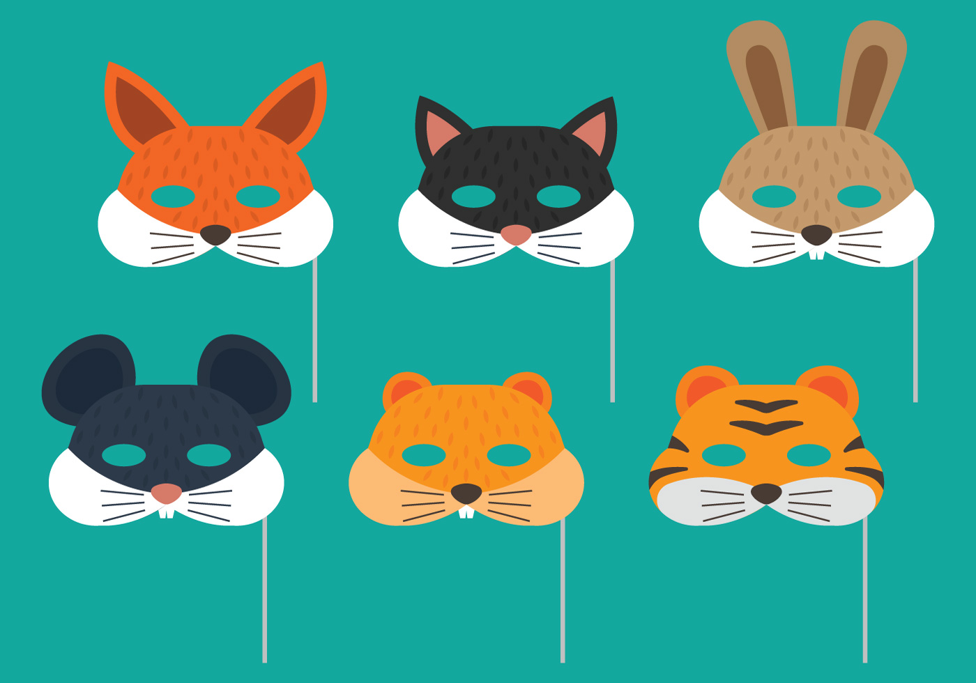Animal Purim Mask - Download Free Vector Art, Stock Graphics & Images