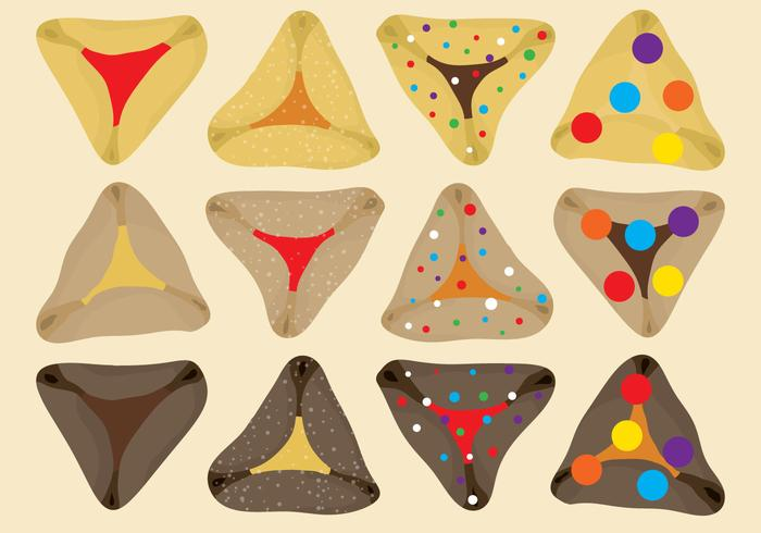 Hamantaschens Vectors