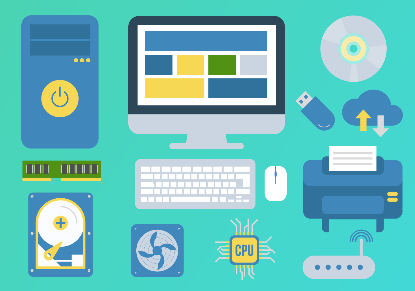 Technology Elements Illustration Vector - Download Free ...