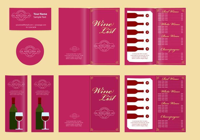 Klassische Vorlagen und Weinliste