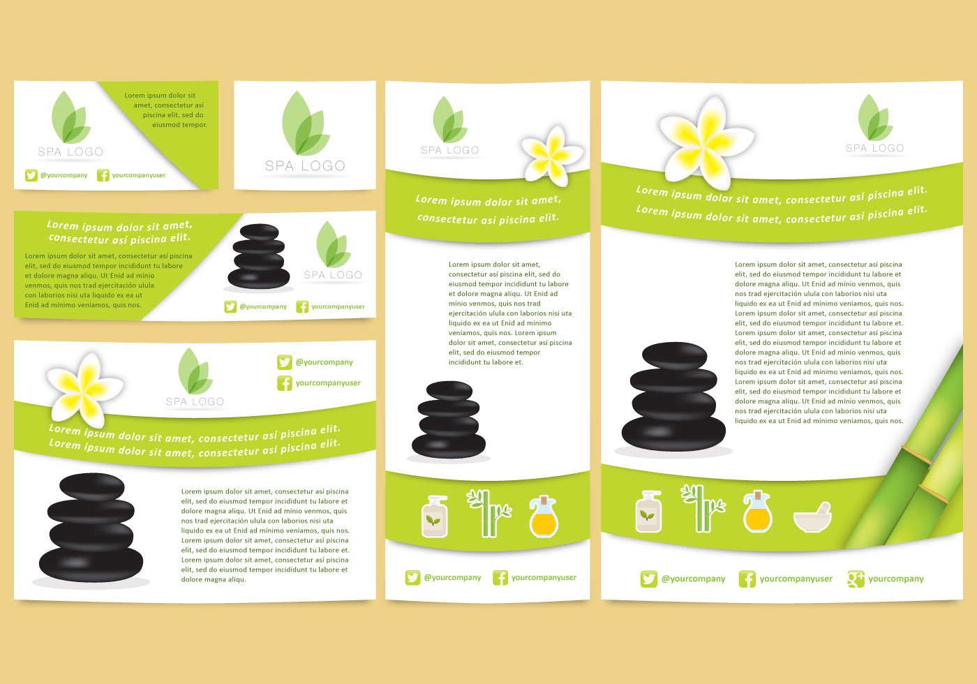 Spa Brand Templates Download Free Vector Art Stock