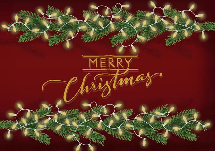 Gratis Kerst Achtergrond Illustratie