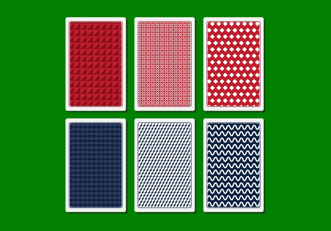 Vector Playing Card Back - Download Free Vector Art, Stock Graphics ...