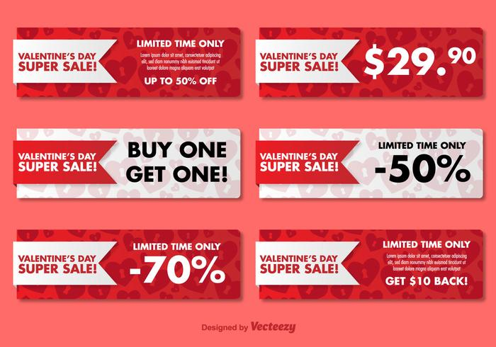 Valentine S Day Sale Banners Download Free Vector Art Stock