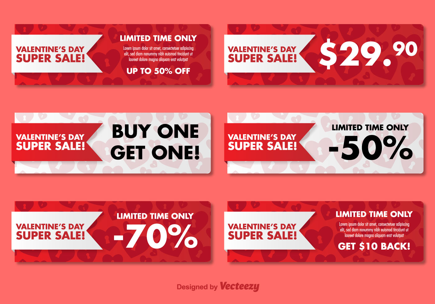Valentine's Day Sale Banners - Download Free Vector Art, Stock Graphics & Images