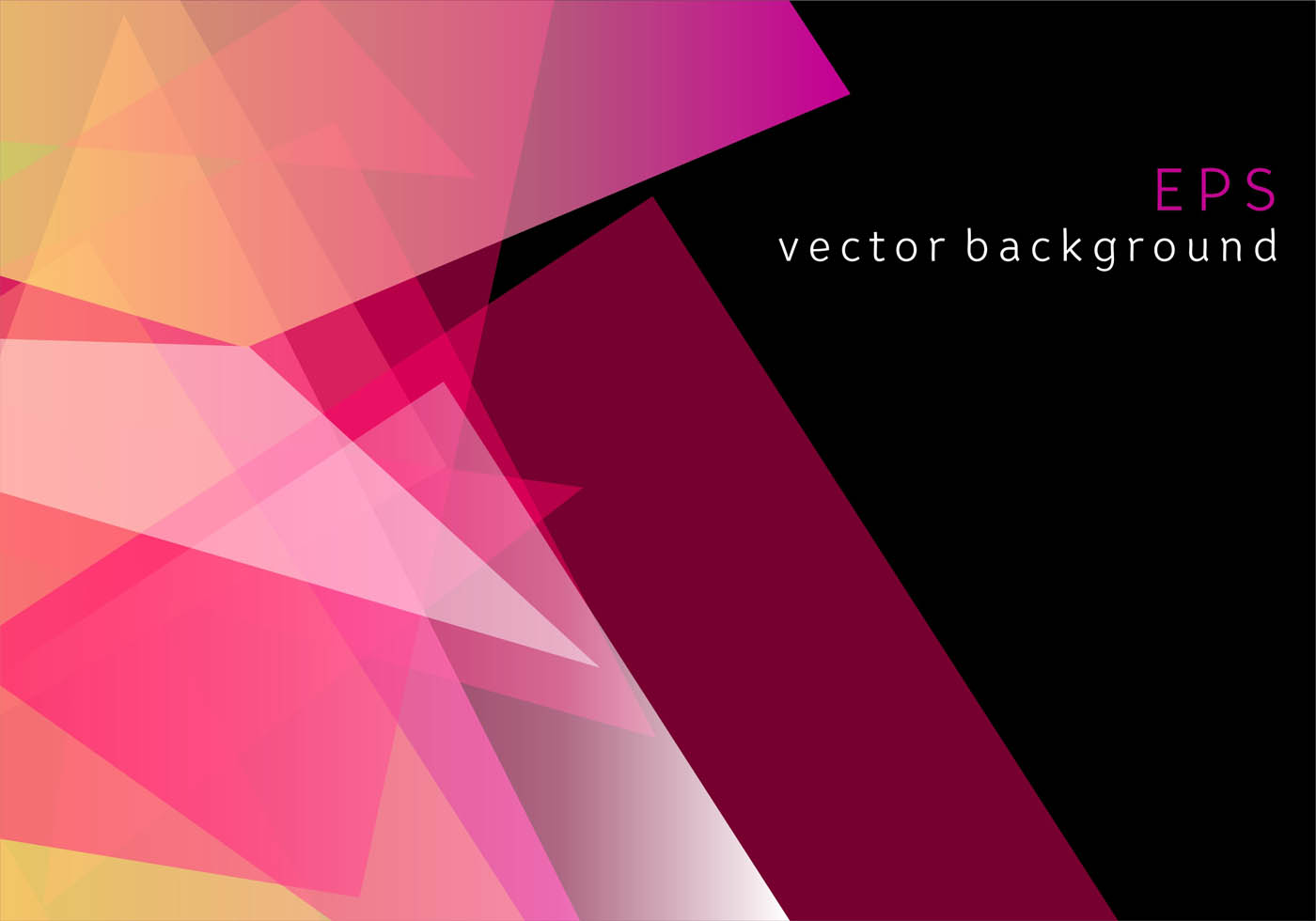 Pink Geometric Prizma Vector Background - Download Free ...