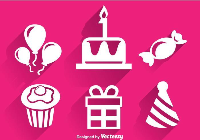 Birthday White Icons