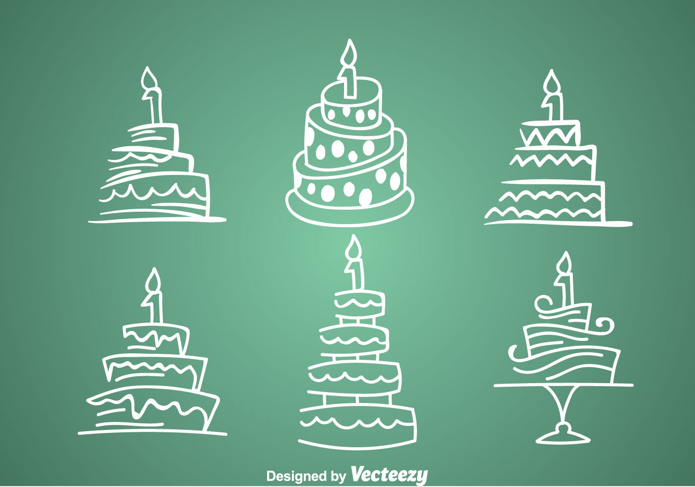 1st Birthday Cake Icons Download Free Vector Art Stock