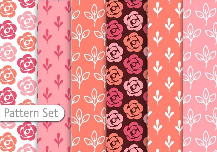 Romantische Kleurrijke Patroon Set vector