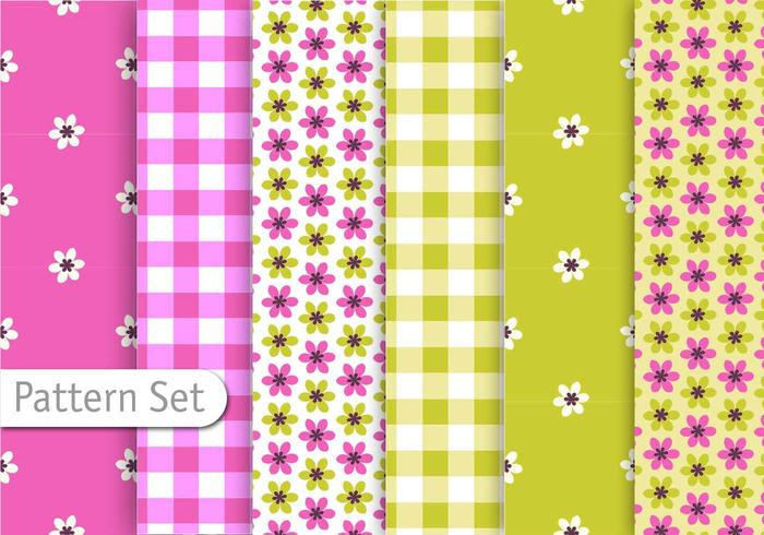 Cutre Retro Pattern set vector