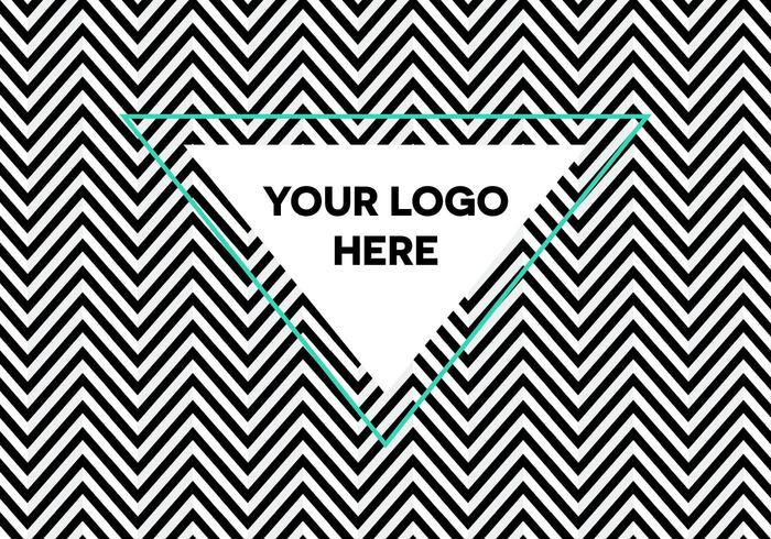 Fondo libre del logotipo de la herradura de la ilusión óptica