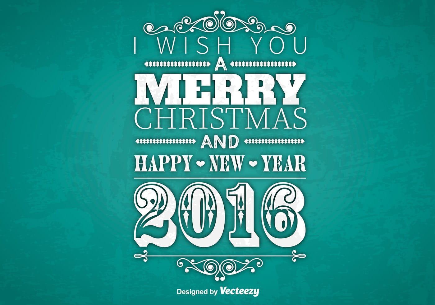 typographic merry christmas design