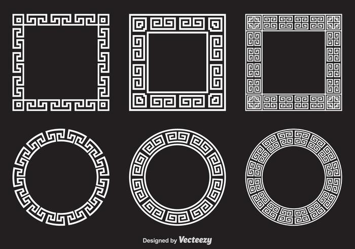 Free Greek Key Vector Frames