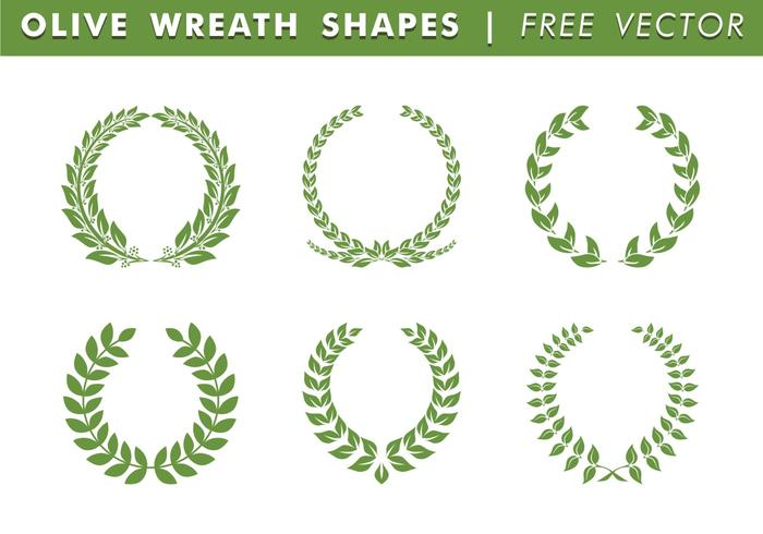 Olive Wreath Shapes Vector