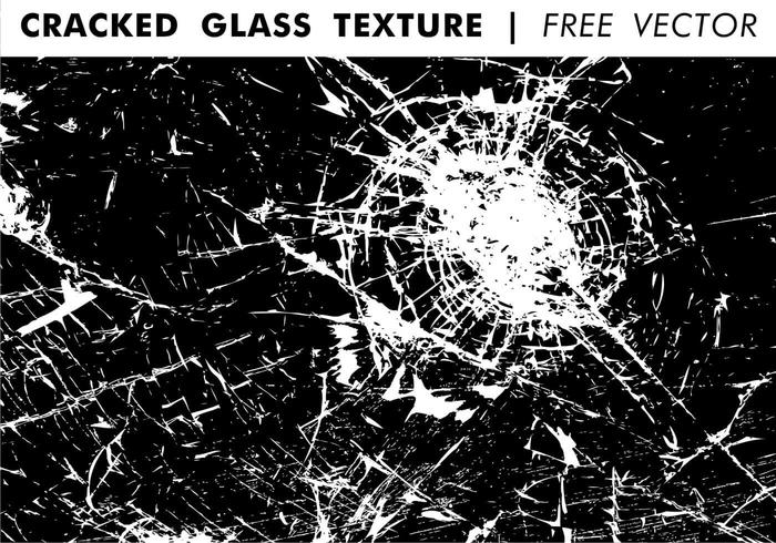 Cracked Glass Texture Free Vector