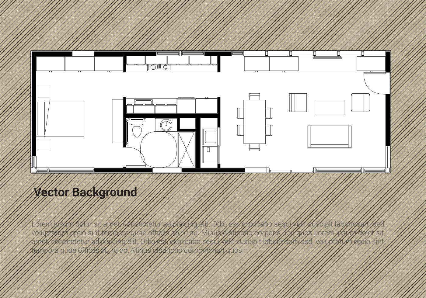 House Plan Free Vector Art - (22,022