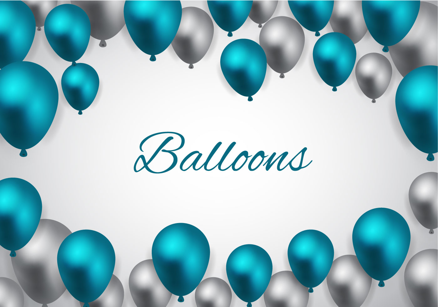 Free Blue Balloons Vector Download Free Vector Art