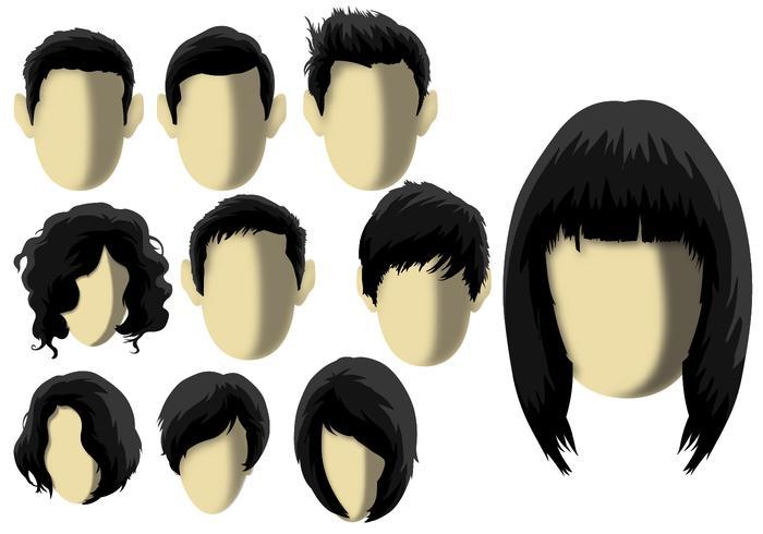 Coiffure - Modello di capelli vettore