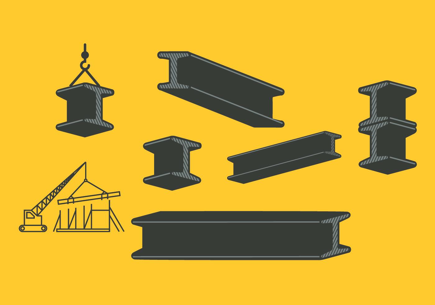 Steel Beam Pack Download Free Vector Art Stock Graphics