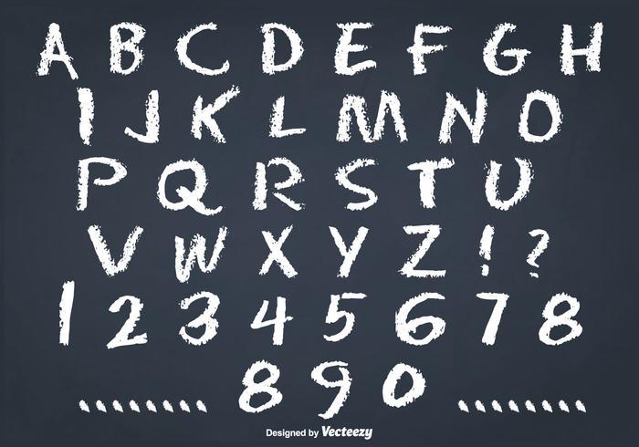 Messy Chalk Style Alphabet Set