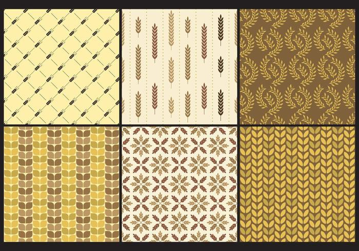 Haringbone And Wheat Patterns vector