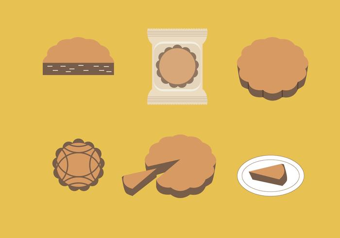 Mooncake Vector Illustrations