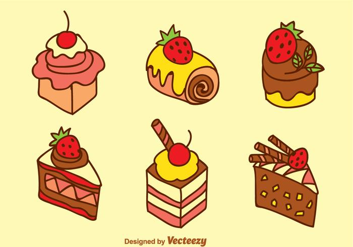 Zoete Cake Vector Set