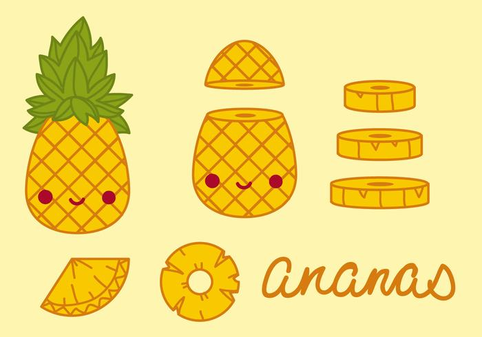 Ananas Pineapples Vector