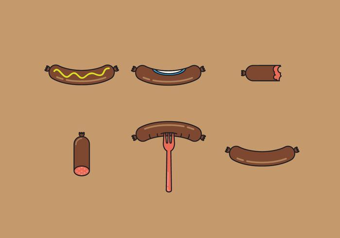 Bratwurst Vector Illustrations