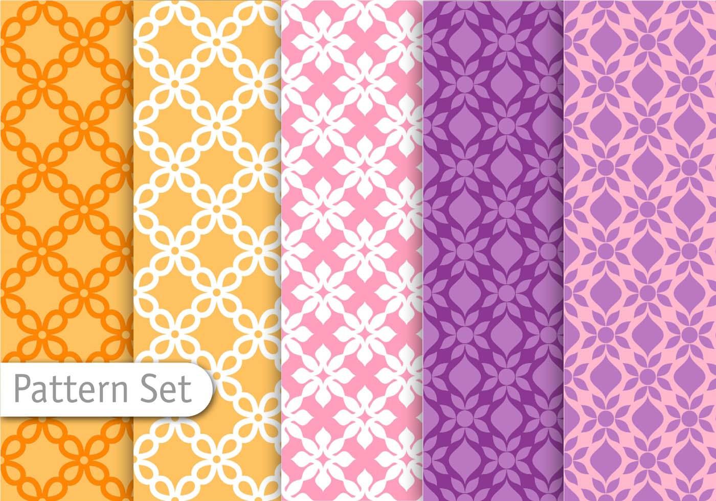 decorative colorful pattern set