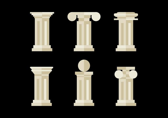 Flat and Minimalist Roman Pillars