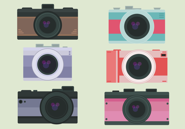 Kostenlose Kameras Vektor