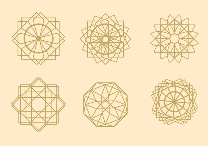 Vectores árabes geométricos