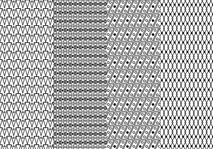 Free Black And White Geometric Pattern