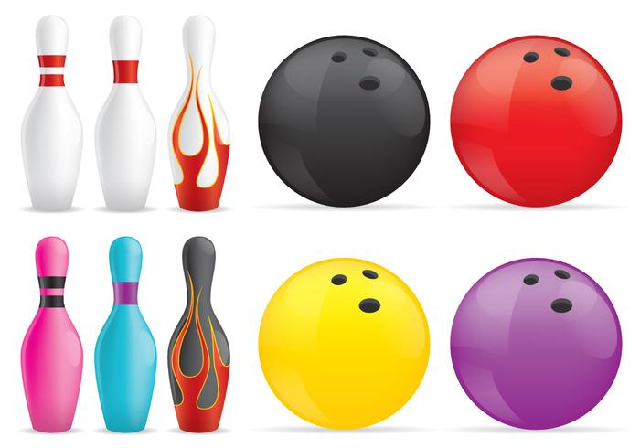 Bowling Pins And Balls