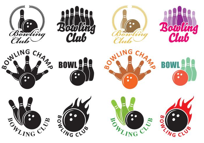 Bowling-Logos vektor