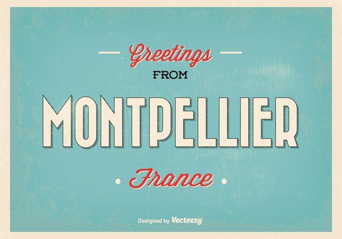 Montpellier France Greeting Illustration