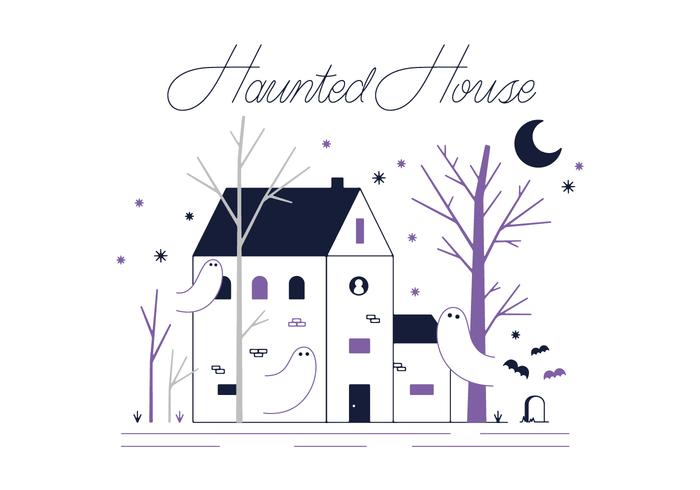 Free Hunted House Vector