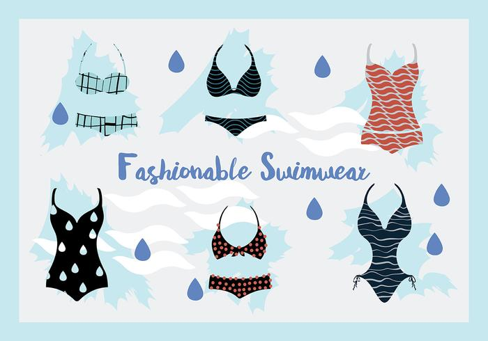 Woman Swimwear and Swim Suits Vector Background
