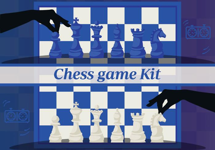 Gratis Set Chess Design Elements Vector Backgorund