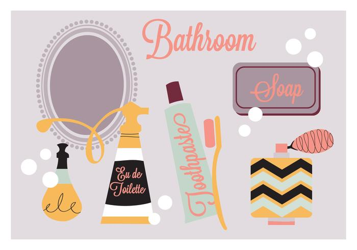 Free Bathroom Elements Vector Background