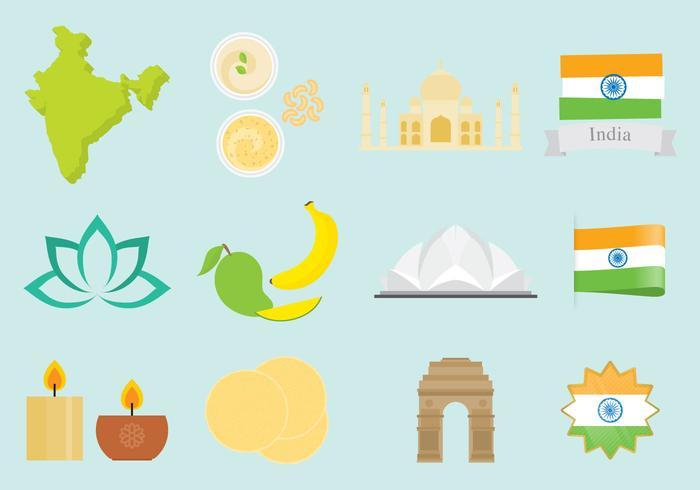 Indien ikoner vektor