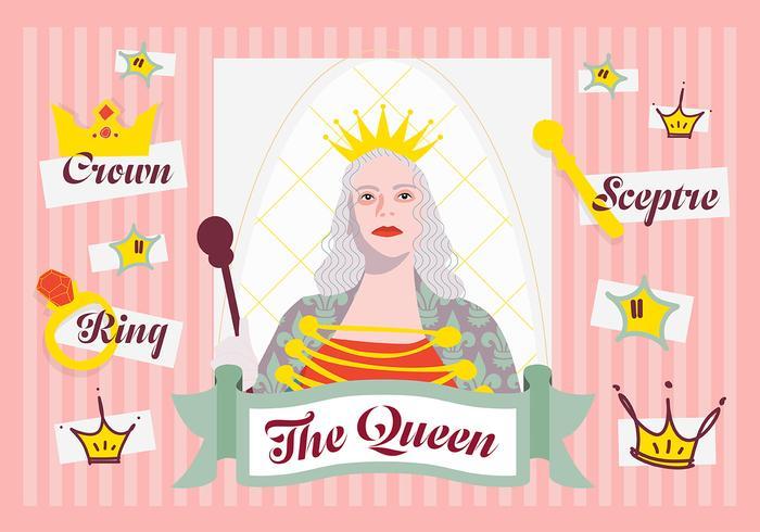 Fond de vecteur minimal minimal de la famille de la reine avec divers éléments
